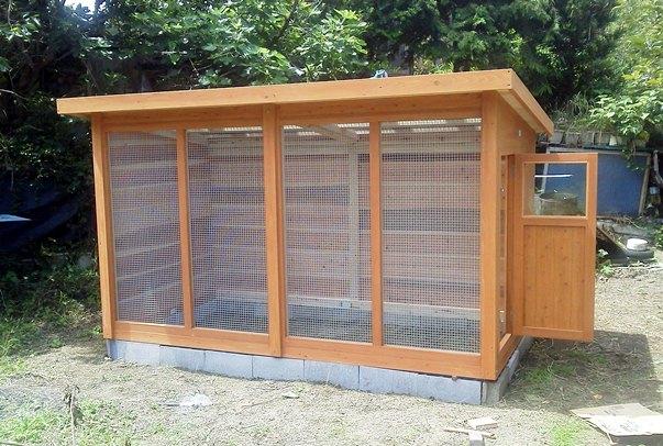 鶏小屋の製作 - 犬小屋製作工房Kの犬小屋ブログ ホーム 犬小屋 猫 鶏小屋 屋外 室内 ケージ