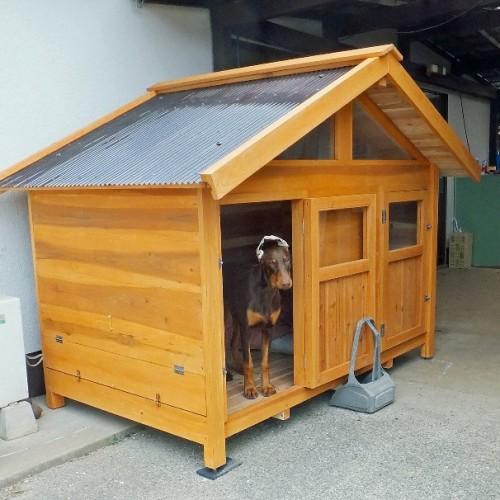 大型犬 屋外ハウス
