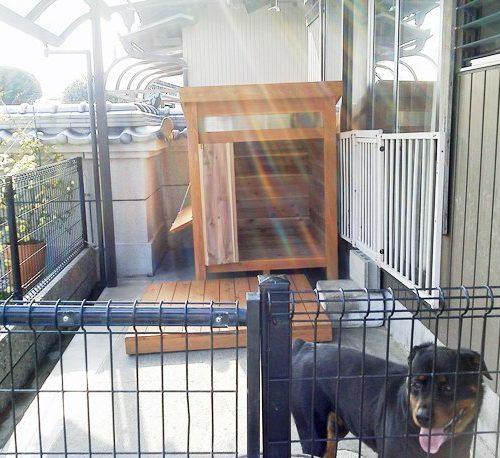 ロットワイラーの犬小屋