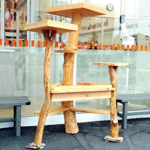 2流木アート キャットタワ